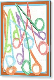 Notes Acrylic Print by Becky Sterling