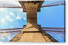 Nothin But Blue Skies Brooklyn Acrylic Print by Charlie Cliques