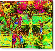 Nothing But Net The Free Throw 20150310 Acrylic Print by Wingsdomain Art and Photography