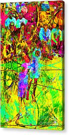 Nothing But Net The Jump Shot 20150310 Acrylic Print
