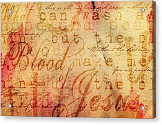 Nothing But The Blood Acrylic Print by Gary Bodnar