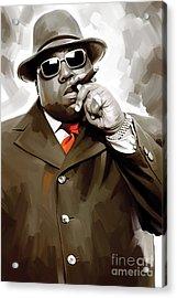 Notorious Big - Biggie Smalls Artwork 3 Acrylic Print by Sheraz A