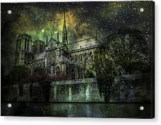 Notre Dame At Night Acrylic Print