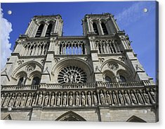 Notre Dame Cathedral Front View Acrylic Print