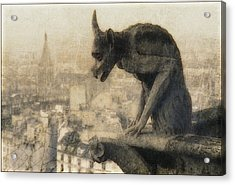 Notre Dame Cathedral Gargoyle Acrylic Print