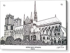 Notre Dame Cathedral - Paris Acrylic Print by Frederic Kohli