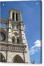 Notre Dame Cathedral Paris Tower Acrylic Print by Stephanie Hunter