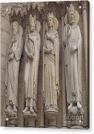 Acrylic Print featuring the photograph Notre Dame Cathedral Saints by Deborah Smolinske