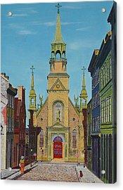 Notre Dame De Bonsecours Acrylic Print