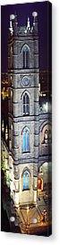 Notre Dame De Montreal At Night Acrylic Print