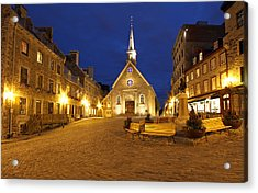 Notre Dame Des Victories And Place Royale Acrylic Print by Juergen Roth