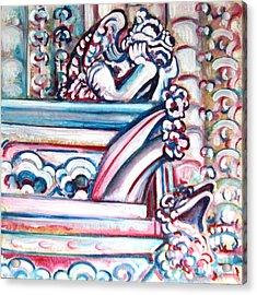 Notre Dame Gargoyle Acrylic Print by Bonnie Sprung