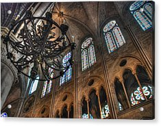 Notre Dame Interior Acrylic Print by Jennifer Ancker