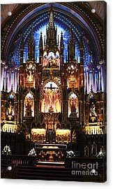 Notre Dame Interior Acrylic Print by John Rizzuto