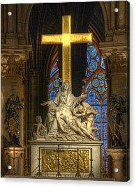 Notre Dame Pieta Acrylic Print