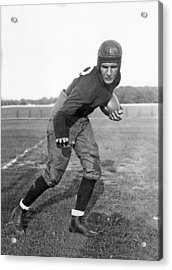 Notre Dame Star Halfback Acrylic Print by Underwood Archives