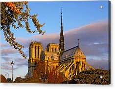 Notre Dame Sunrise Acrylic Print