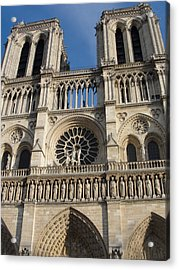 Acrylic Print featuring the photograph Notre Dame by Tiffany Erdman