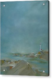 Acrylic Print featuring the painting Nova Scotia Fog by Judith Rhue