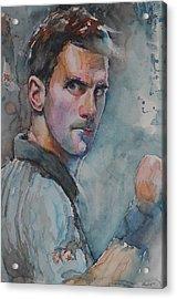 Novak Djokovic - Portrait 1 Acrylic Print