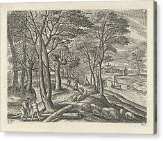 November, Julius Goltzius, Gillis Mostaert Acrylic Print by Julius Goltzius And Gillis Mostaert (i) And Claes Jansz. Visscher (ii)