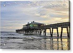 November Morning At Sun Glow Pier Acrylic Print