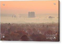 November Morning Fog Acrylic Print by Charline Xia