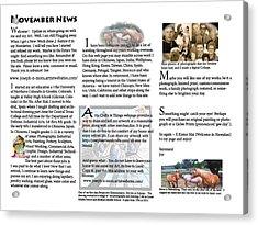 November News Acrylic Print
