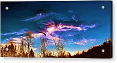 Acrylic Print featuring the painting November Skies by Dennis Lundell