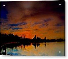 November Sky Acrylic Print by Rick Todaro