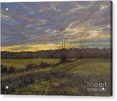 November Sunset Acrylic Print by Gregory Arnett