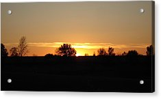 November Sunset  Acrylic Print by J L Zarek