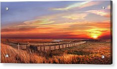 November Sunset On The Cattle Pens Acrylic Print