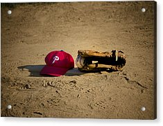 Now Pitching For The Phillies Acrylic Print by Bill Cannon