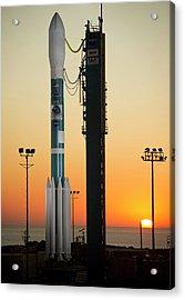 Npp Satellite Launch Rocket Acrylic Print