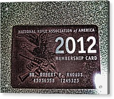 Acrylic Print featuring the digital art 'nra' by Robert Rhoads