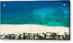 Pipeline Reef From Above Acrylic Print by Sean Davey