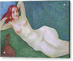 Nu 13 Acrylic Print by Leonid Petrushin