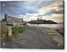 Nubble Bench Acrylic Print by Eric Gendron