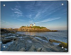 Nubble In Blue Acrylic Print by At Lands End Photography
