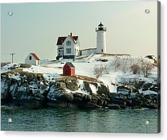 Nubble In Winter Acrylic Print by Elaine Franklin
