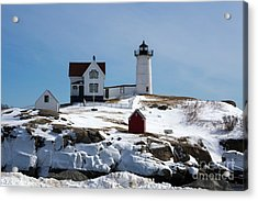 Nubble Light 2 Acrylic Print by Kevin Fortier