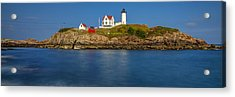 Nubble Light And A Clear Blue Sky Acrylic Print by Scott Lynde