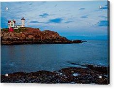 Nubble Light At Cape Neddick Maine Acrylic Print by John McGraw