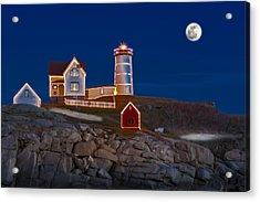 Nubble Light Cape Neddick Lighthouse Acrylic Print