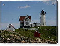 Acrylic Print featuring the photograph Nubble Light House York Maine by Denyse Duhaime