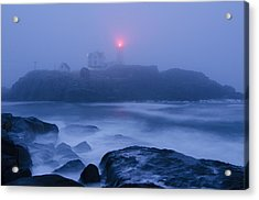 Nubble Light In Foggy Dawn Acrylic Print