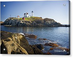 Nubble Light Acrylic Print by Jim  Calarese