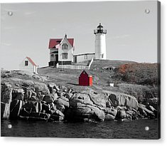 Nubble Light Acrylic Print by Timothy Caron