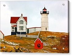 Acrylic Print featuring the photograph Nubble Lighthouse by Amazing Jules